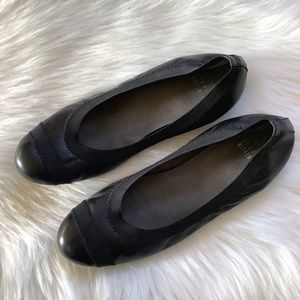 Stuart Weitzman Black Slip On Ballet Flats